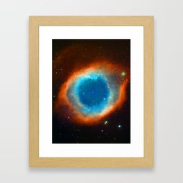 Eye Of God - Helix Nebula Framed Art Print