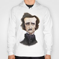 edgar allen poe Hoodies featuring Poe by Vito Quintans