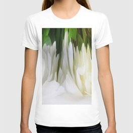 501 - White Peony Abstract T-shirt