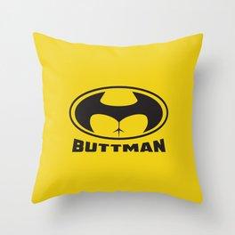 Buttman Throw Pillow