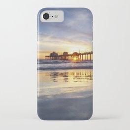 Huntington Beach Pier Sunset 12-30-18 iPhone Case