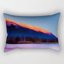Banff Canada Vintage Travel Poster Rectangular Pillow
