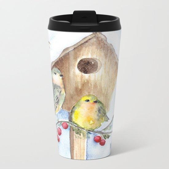 Winter animal #16 Metal Travel Mug
