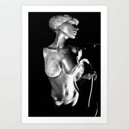 Goddess water fountain Art Print