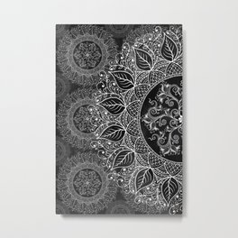 Mandaleaf - Black a lot Metal Print