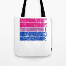 Gay Pride LGBT Bisexual Bi Distressed Pop Art  design Tote Bag