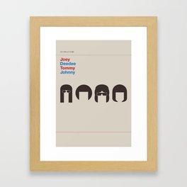 Hey Ho Let´s Go Framed Art Print