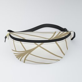 Diamond Series Round Wave Gold on White Fanny Pack