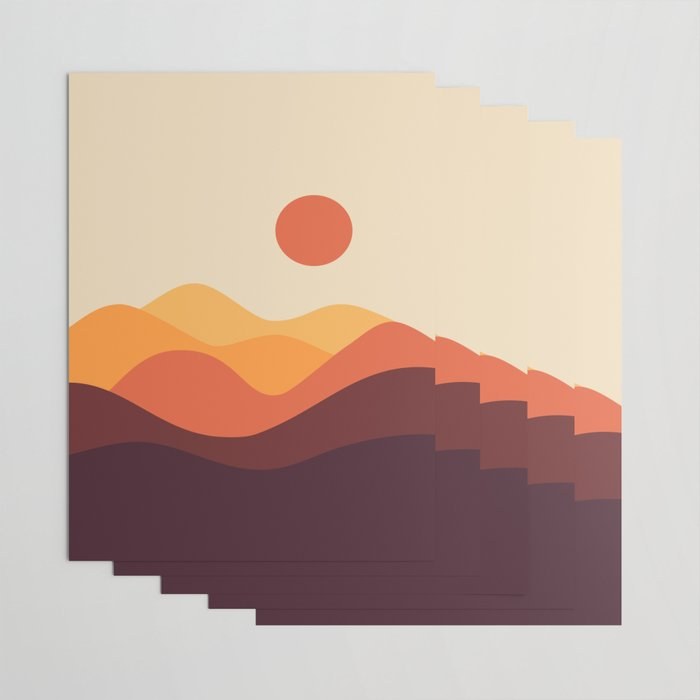 Geometric Landscape 21 Wrapping Paper