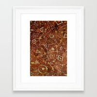 constellations Framed Art Prints featuring constellations by rysunki-malunki