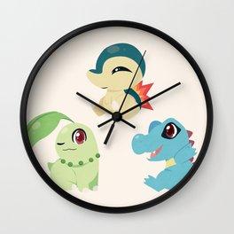 Johto Starters Wall Clock