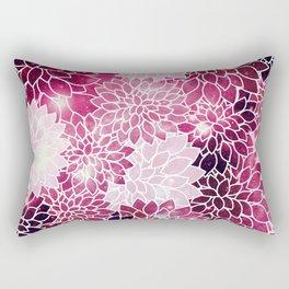 Space Dahlias Magenta Rectangular Pillow