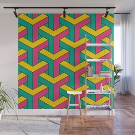 Retro Colored Chains Wall Mural