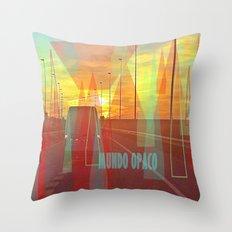 Opaque world Throw Pillow