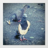 hiphop Canvas Prints featuring HipHop Dove Wife by Sigurdfisk