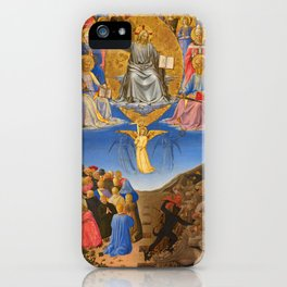 "Fra Angelico ""The Corsini Tryptich - Triptych of the Last Judgment, Ascension, and Pentecost"" iPhone Case"