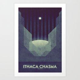 Tethys - Ithaca Chasma Art Print