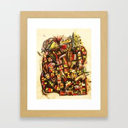 Kiss the King Framed Art Print