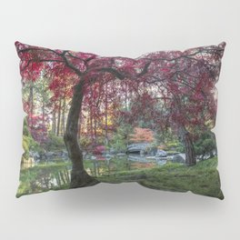 Japanese Maple Sunburst Pillow Sham