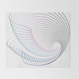 Lineal minimal song Throw Blanket