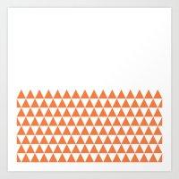 Geometric Triangles Art Print