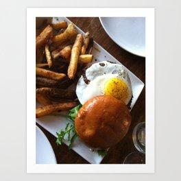Egg burger Art Print