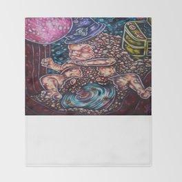 Jaded Art Throw Blanket