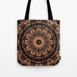 Ombre Floral Mandala Tote Bag