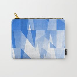 Abstract Blue Geometric Mountains Design Carry-All Pouch