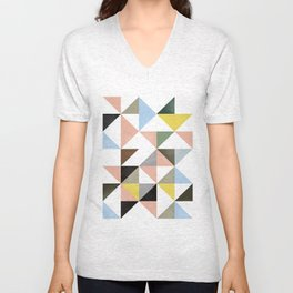 Geometric Abstract,Abstract Print,Abstract Poster,Geometric Triangles,Printable Art,Modern Art Unisex V-Neck