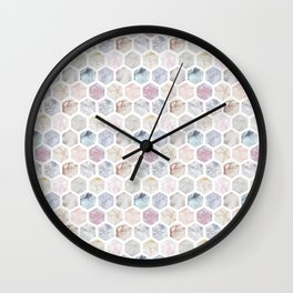 Geometric Marble Wall Clock