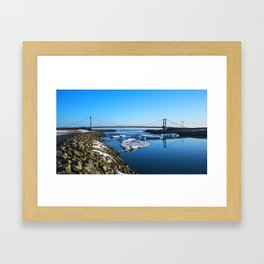 Bridge across the Ice Lagoon Iceland Framed Art Print