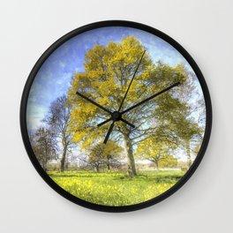 Summer Farm Trees Art Wall Clock