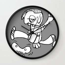Flipping Out Skateboarding Wall Clock
