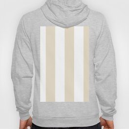 Wide Vertical Stripes - White and Pearl Brown Hoody