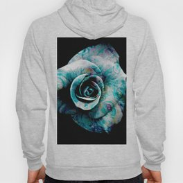 Fluid Nature- Marbled Blue Rose Hoody