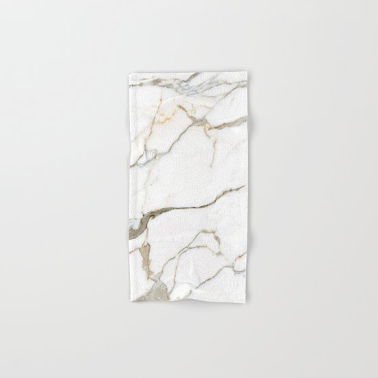 White Marble Hand & Bath Towel
