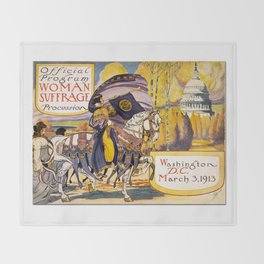 Women's March On Washington, Votes For Women, Women's Suffrage Throw Blanket