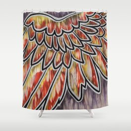 Phoenix Wing Shower Curtain