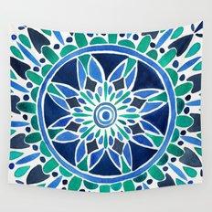 Blue & Turquoise Mandala Wall Tapestry