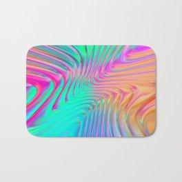 Abstract Colorful Waves Bath Mat