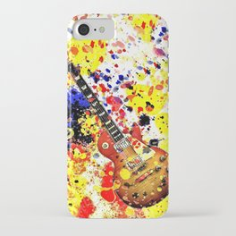 Retro Les Paul guitar iPhone Case