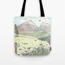 Happy Mountains Tote Bag