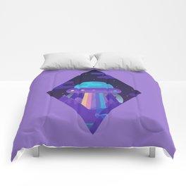 ROYGBIV Flying-Saucer Comforters