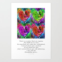 Romantic Art - Completely Yours - By Sharon Cummings Art Print