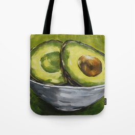 Original Painting Healthy Sliced Avocado Tote Bag
