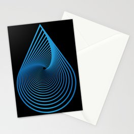 Water drop geometric spectrum Stationery Cards