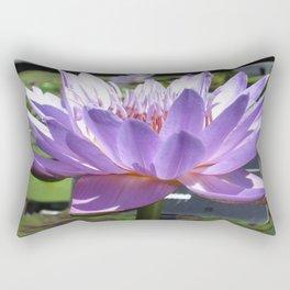 Glowing Purple Water Lily Rectangular Pillow