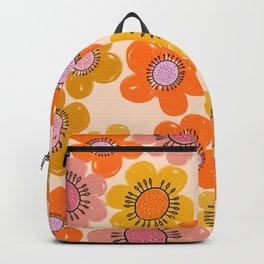Flower Power Painted Flowers Backpack