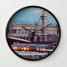 Paris lights. Wall Clock
